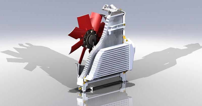 Cleanfix Radiator Cutaway